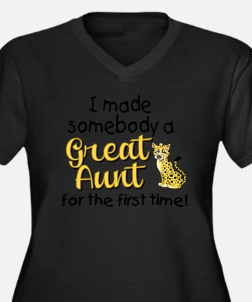 great aunt Women's Plus Size Dark V-Neck T-Shirt