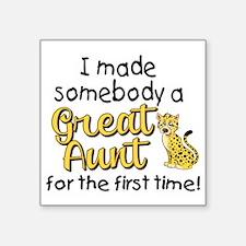 "great aunt Square Sticker 3"" x 3"""