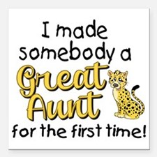 "great aunt Square Car Magnet 3"" x 3"""