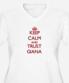 Keep Calm and TRUST Giana Plus Size T-Shirt