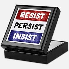 RESIST PERSIST INSIST Keepsake Box