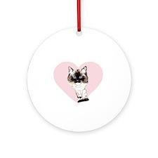 I_love_ragdolls_transparent_white Round Ornament