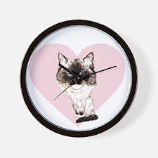 I_love_ragdolls_transparent_white Wall Clock