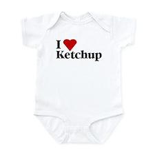 I love ketchup baby onesie