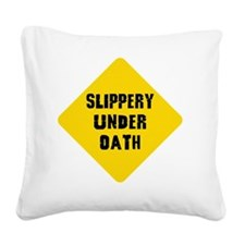 grad law road sign Square Canvas Pillow