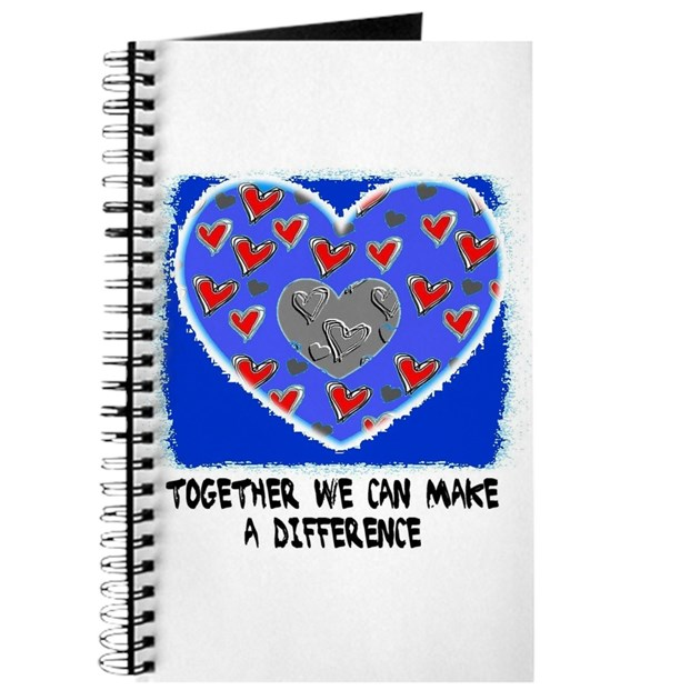 TOGETHER WE CAN MAKE A DIFFERENCE Journal by doubledawgdareu