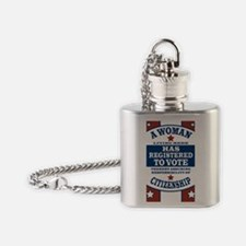 Vintage Womens Voting Rights Flask Necklace