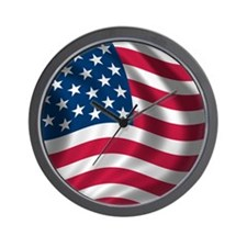 FlopFlop-USAFlag Wall Clock