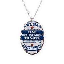 A Woman Votes Necklace Oval Charm
