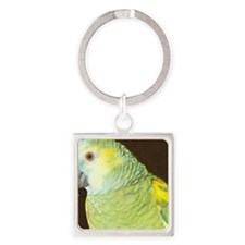 Amazon Parrot1663x600 cloned Square Keychain