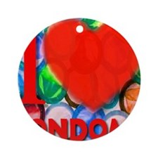 ilove_CONDOMS_redheart Round Ornament