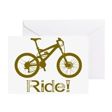 MTB-Ride-Brown Greeting Card