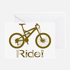 MTB-Ride-Brown Greeting Card