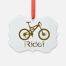 MTB-Ride-Brown Ornament