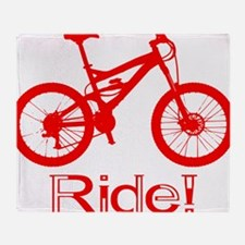 MTB-Ride-Red Throw Blanket