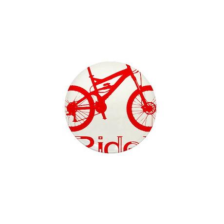 MTB-Ride-Red Mini Button