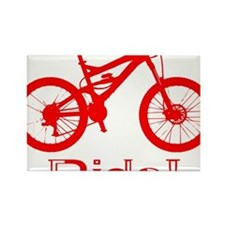 MTB-Ride-Red Rectangle Magnet