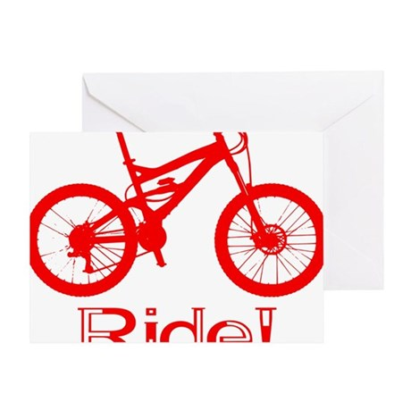 MTB-Ride-Red Greeting Card
