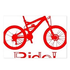MTB-Ride-Red Postcards (Package of 8)