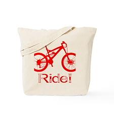 MTB-Ride-Red Tote Bag