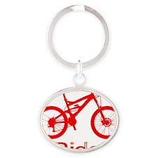 MTB-Ride-Red Oval Keychain