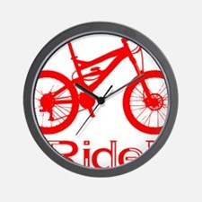 MTB-Ride-Red Wall Clock