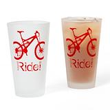 Bike Pint Glasses