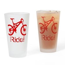 MTB-Ride-Red Drinking Glass