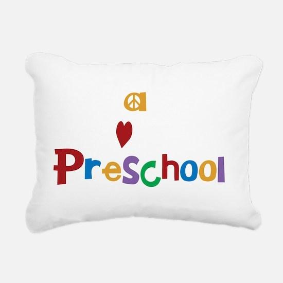Peace Love Preschool Rectangular Canvas Pillow