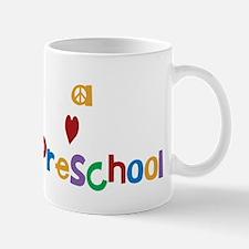 Peace Love Preschool Mug