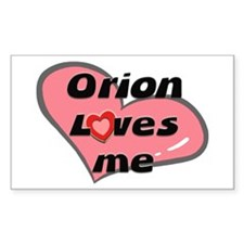 orion loves me Rectangle Decal