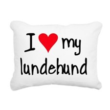iheartnorwegianlundehund Rectangular Canvas Pillow