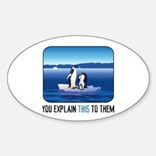 Arctic Penguins Oval Decal