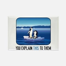 Arctic Penguins Rectangle Magnet