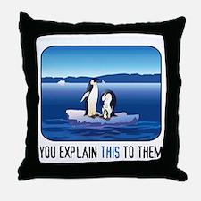 Arctic Penguins Throw Pillow
