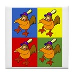 4 Chickens Tile Coaster