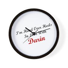 In Love with Darin Wall Clock