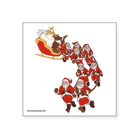 "reindeer_revenge_10x10_appa Square Sticker 3"" x 3"""