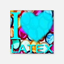 """ilove_LATEX_skyblue Square Sticker 3"""" x 3"""""""