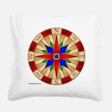 Compass_Rose_10x10_apparel Square Canvas Pillow