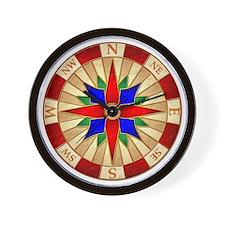 Compass_Rose_10x10_apparel Wall Clock