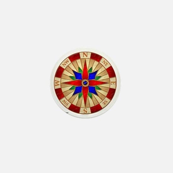 Compass_Rose_10x10_apparel Mini Button