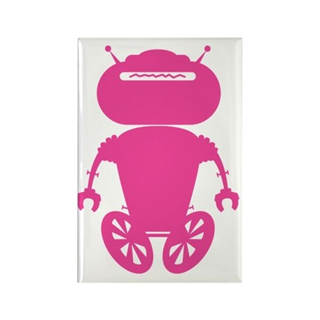 robotAntSolo_pink Rectangle Magnet