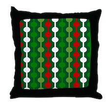 Christmas Bubble Stripe Throw Pillow