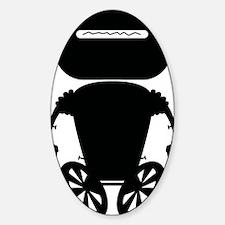 robotAntSoloBLACK Sticker (Oval)