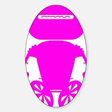 robotAntSolo_pink Sticker (Oval)