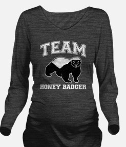 honeybadger Long Sleeve Maternity T-Shirt