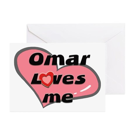 omar loves me Greeting Cards (Pk of 10)