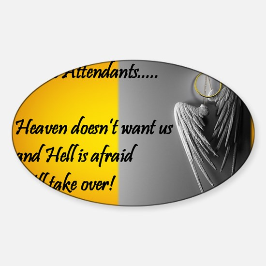 Heaven Hell FA GENERIC Sticker (Oval)