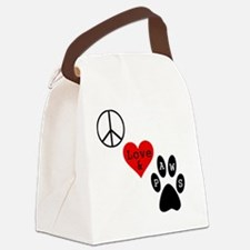 peacelovepaws1 Canvas Lunch Bag